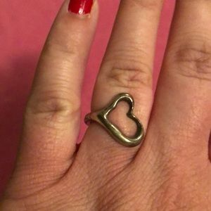 Tiffany's open heart ring size 7 sterling silver